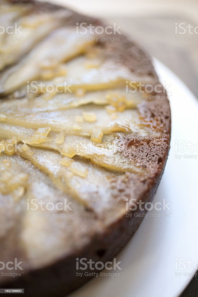 pear and ginger cake stock photo