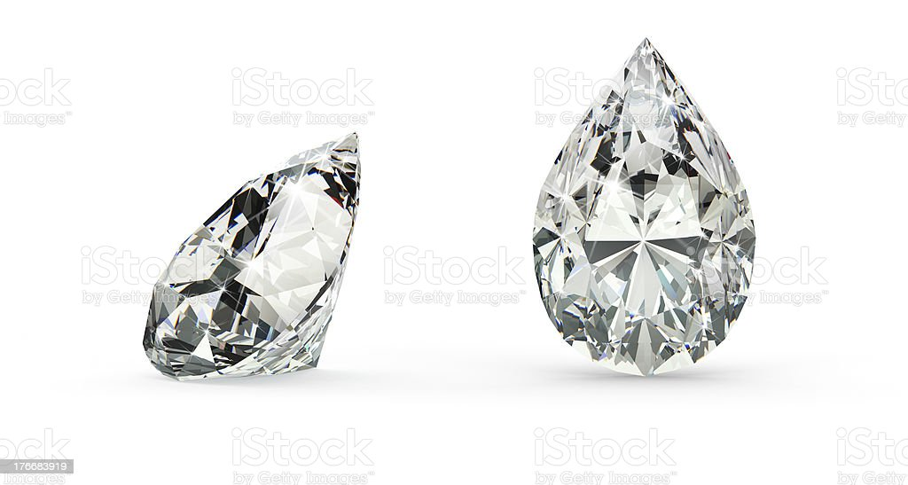 Pear Cut Diamond stock photo