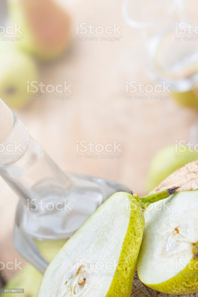 Pear Fruit Brandy  Birnenschnaps royalty-free stock photo