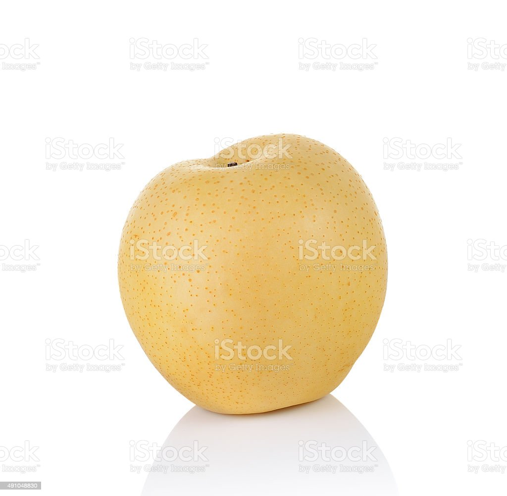 pear fruit on white background stock photo