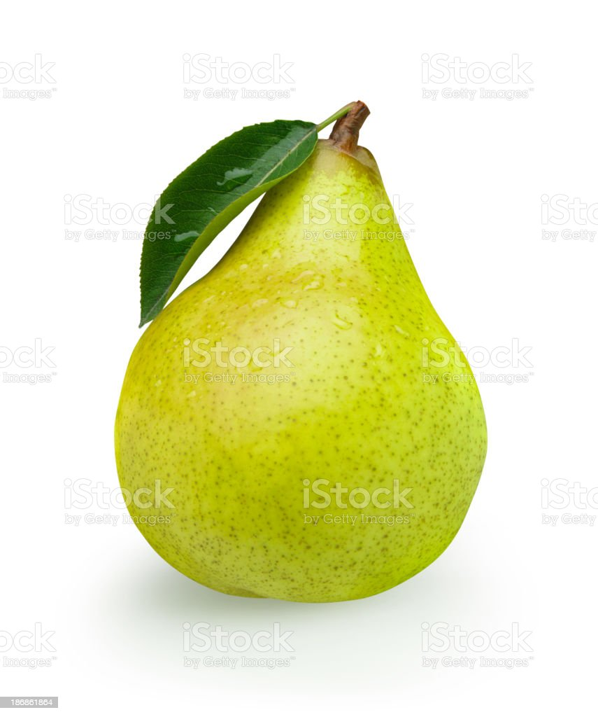 Pear green with Leaf royalty-free stock photo