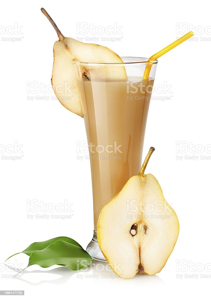 Pear juice isolated royalty-free stock photo