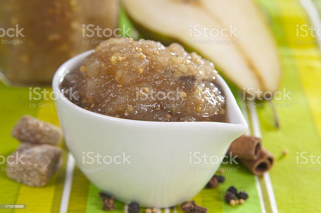 pear sauce royalty-free stock photo