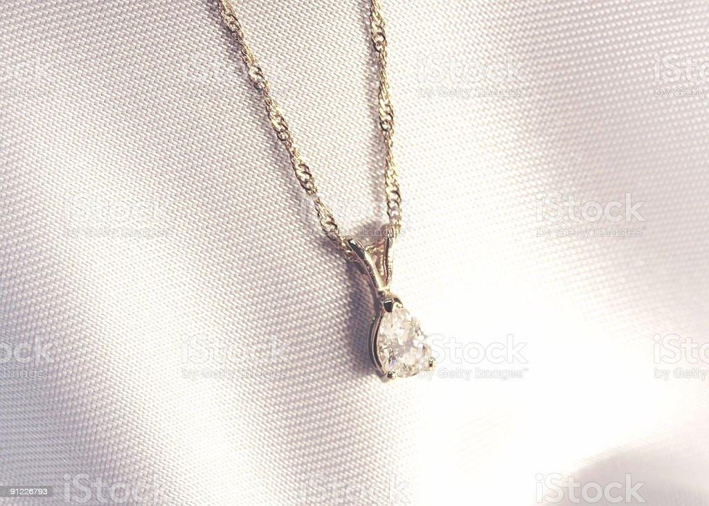 Pear Shaped Diamond Pendant royalty-free stock photo