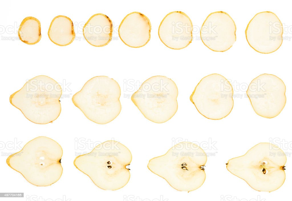 pear slice stock photo