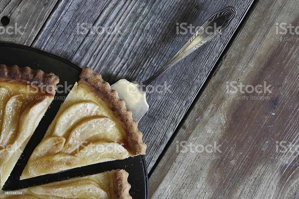 Pear tart. stock photo