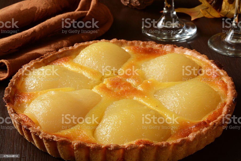Pear Tarte stock photo