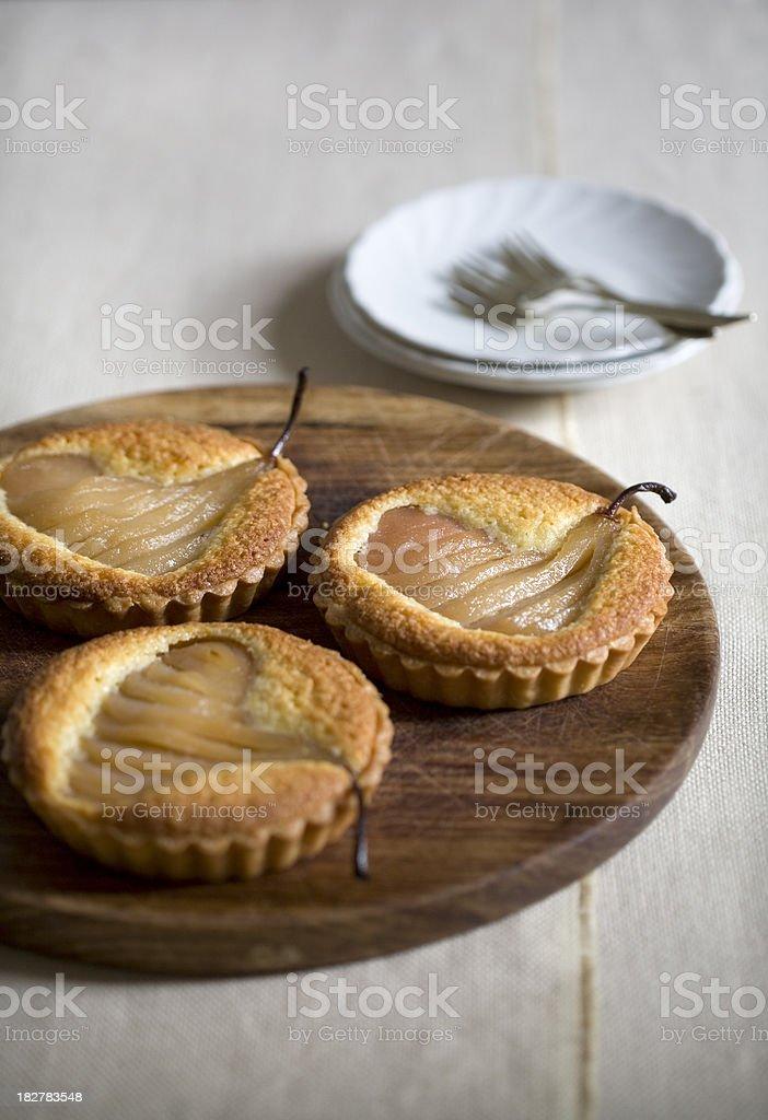 Pear Tartlets royalty-free stock photo