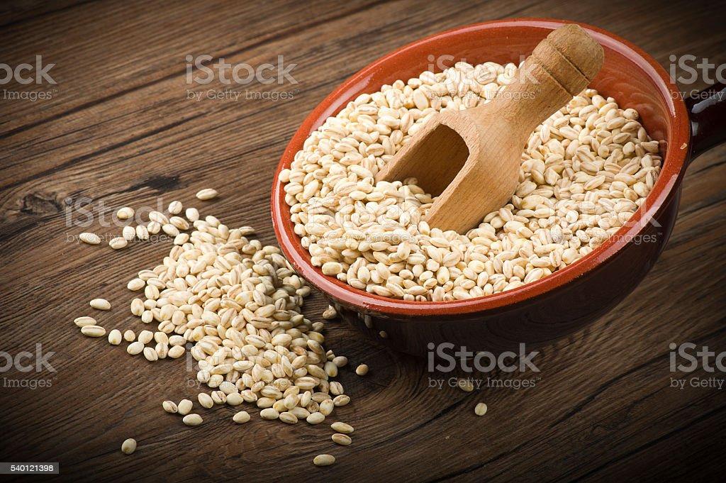 Pearl barley stock photo