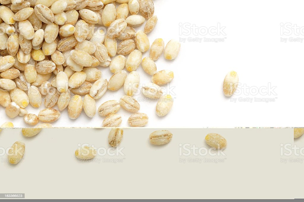 Pearl Barley Scattered stock photo
