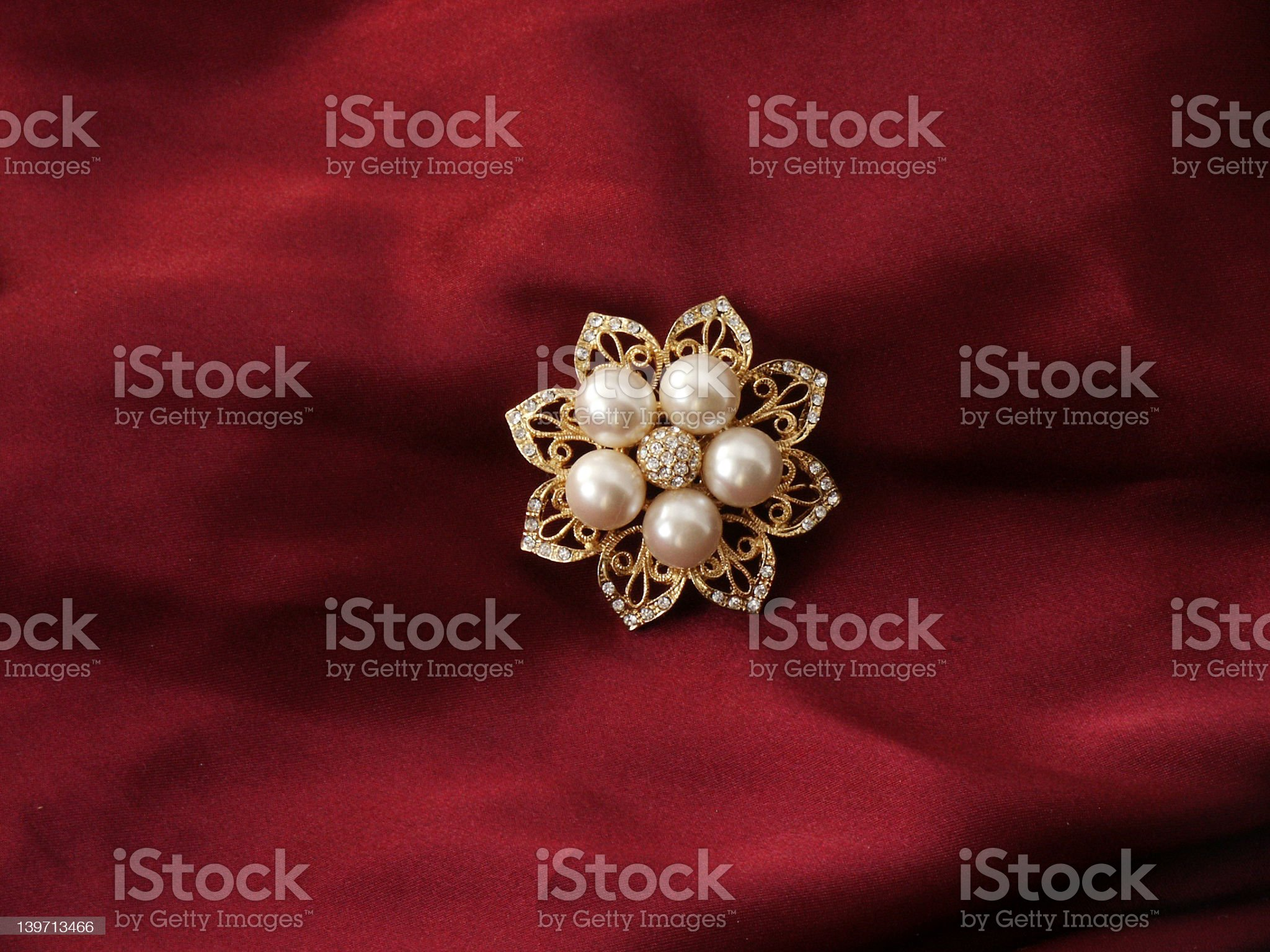 Pearl brooch royalty-free stock photo