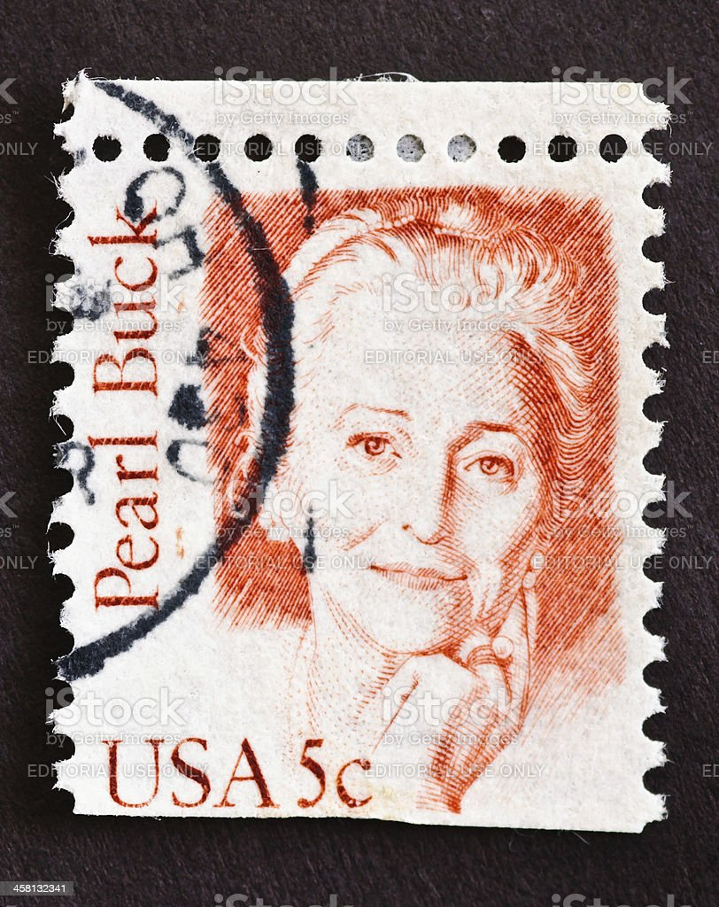 Pearl Buck Stamp stock photo