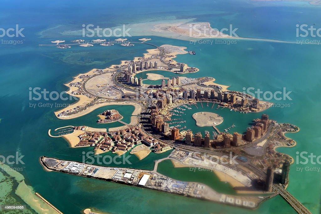 Pearl - Doha - Qatar stock photo