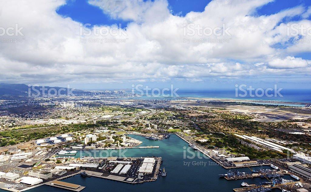Pearl Harbor Aerial stock photo