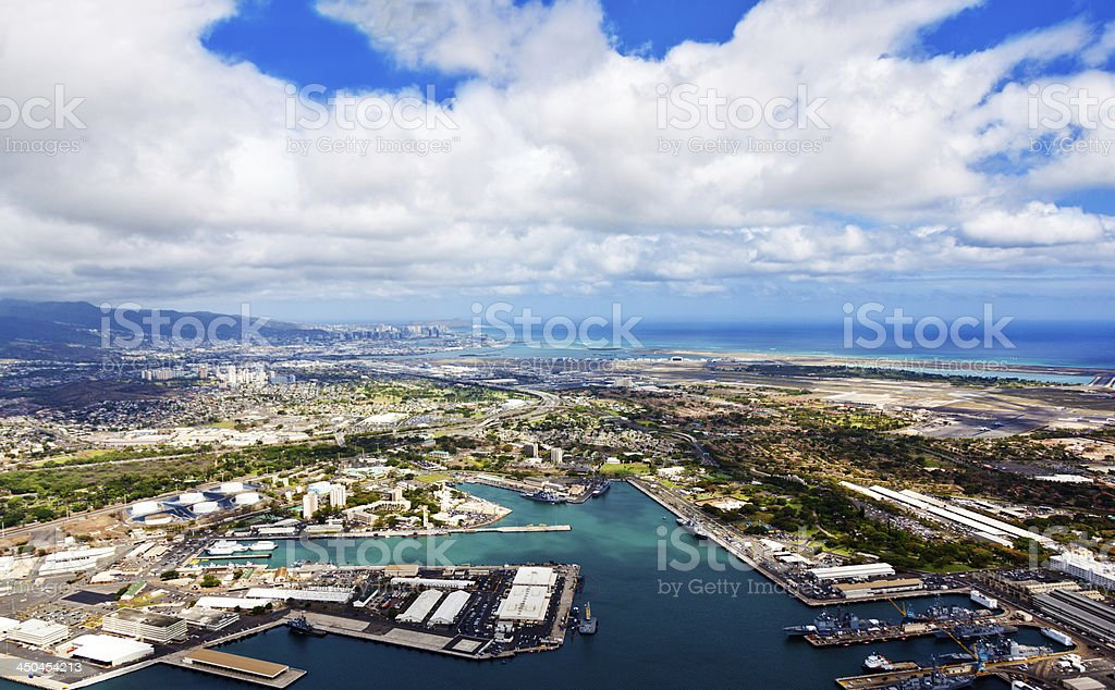 Pearl Harbor Aerial stock photo