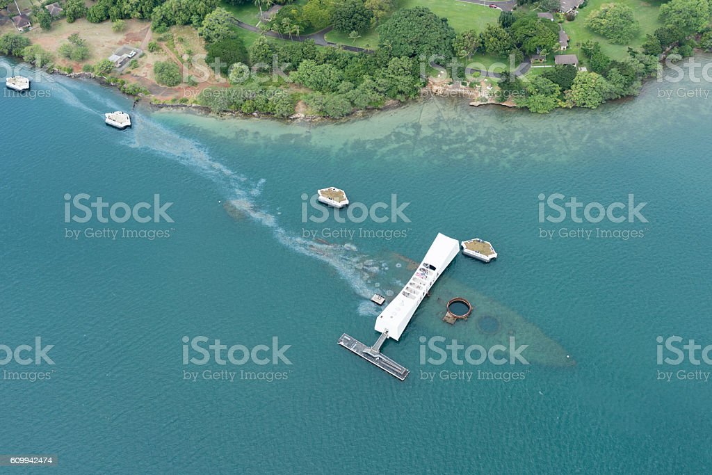 Pearl Harbor, Hawaii stock photo