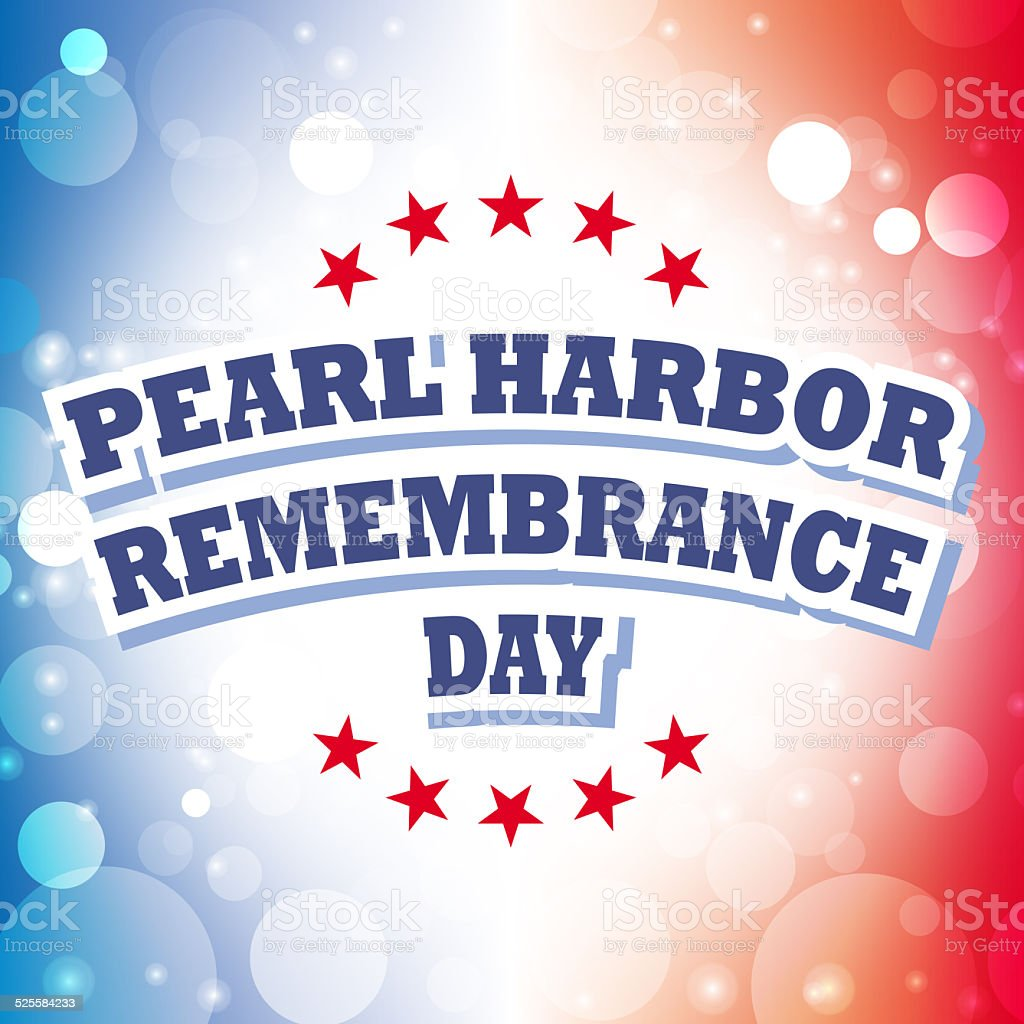 pearl harbor remembrance day stock photo