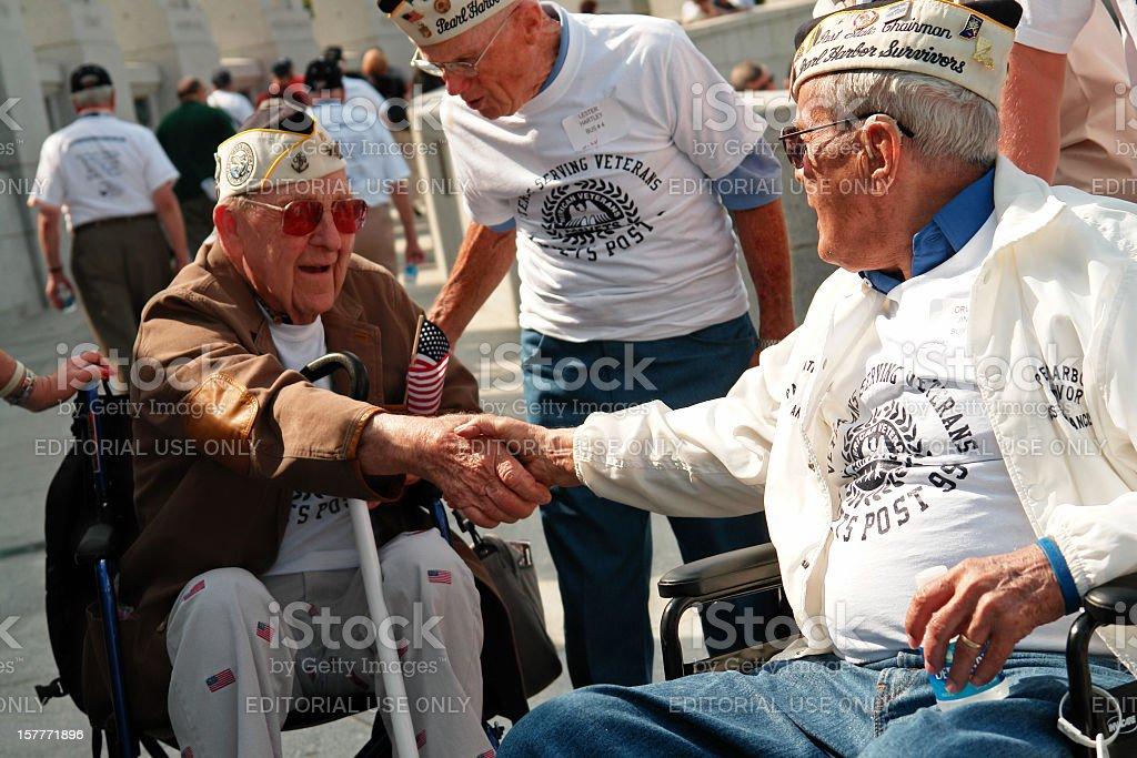 Pearl Harbor Survivors stock photo