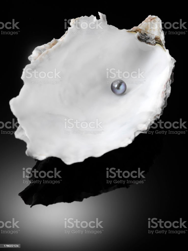 Pearl in a Oyster Shell royalty-free stock photo