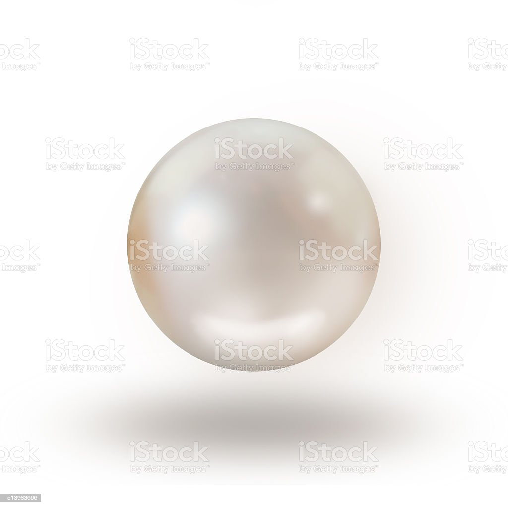 Pearl isolated on white background stock photo