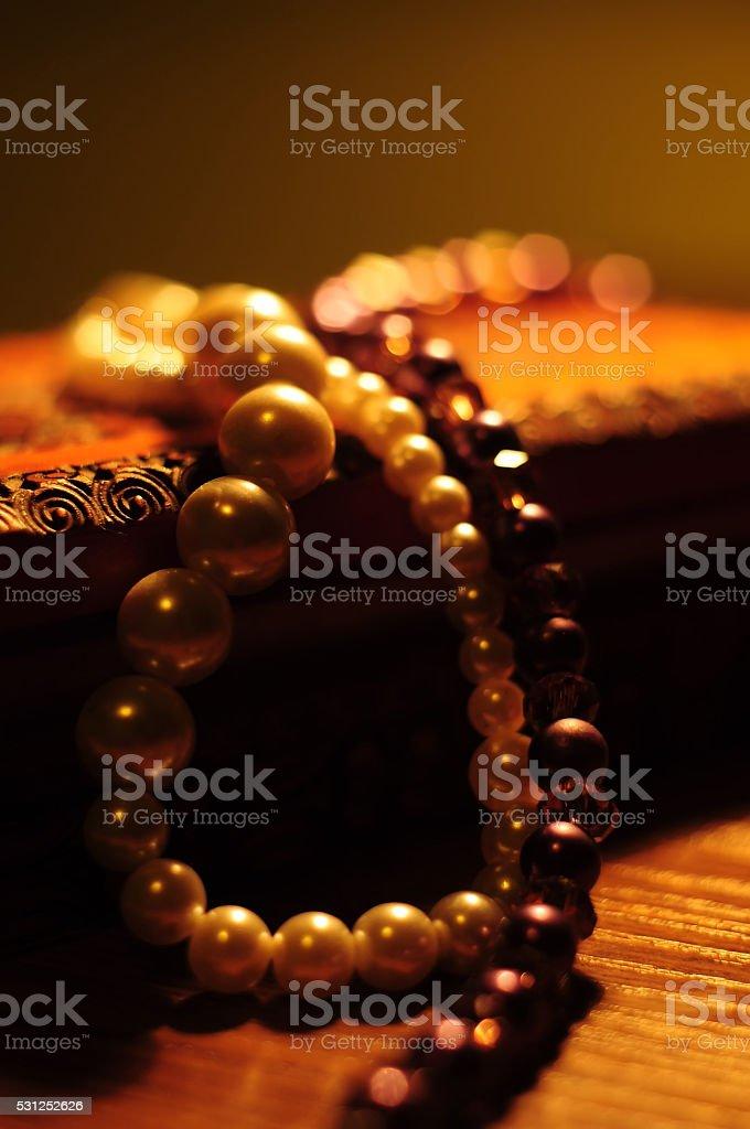 Pearl jewellery stock photo