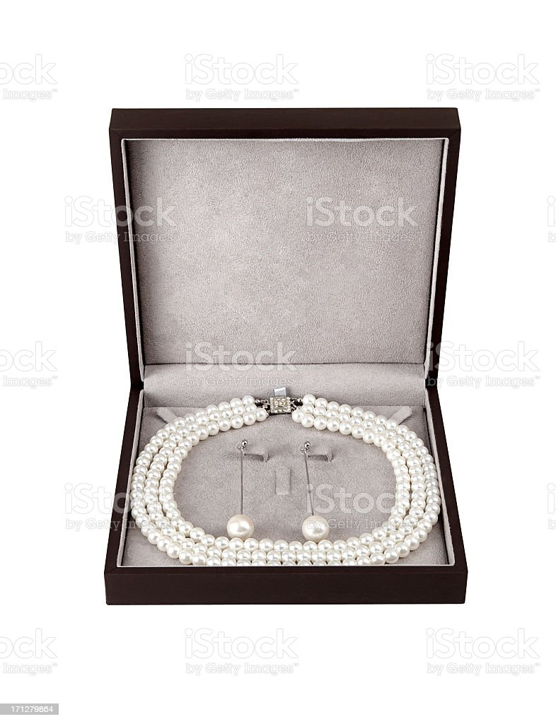 Pearl Jewelry Set +Clipping Path stock photo