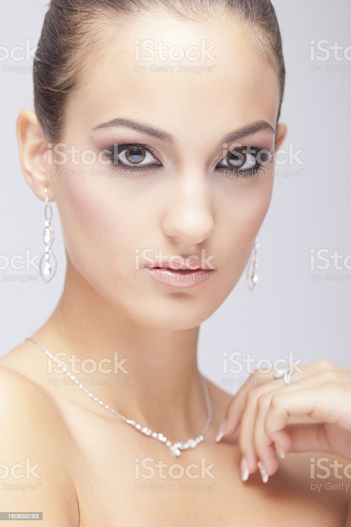 Pearl lady royalty-free stock photo