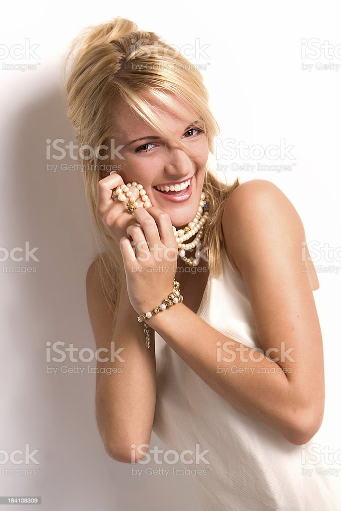 Pearl Lover royalty-free stock photo