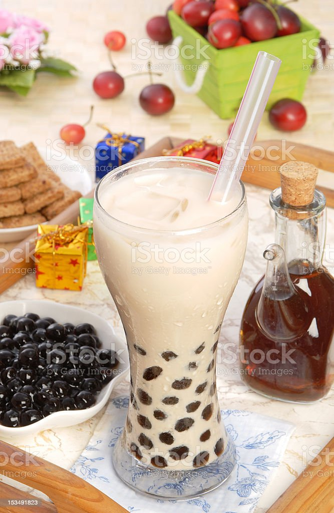 Pearl milk tea stock photo