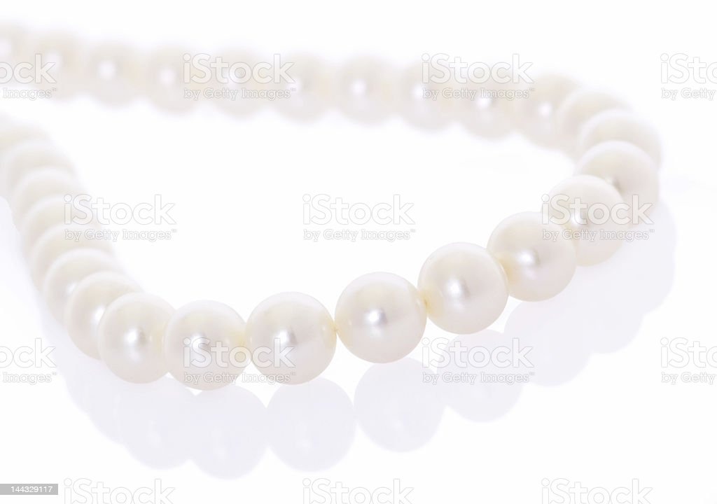 Pearl necklace royalty-free stock photo