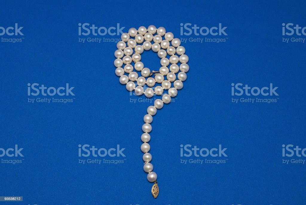 Pearl Necklace5 royalty-free stock photo