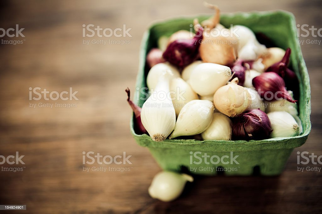 Pearl onions stock photo