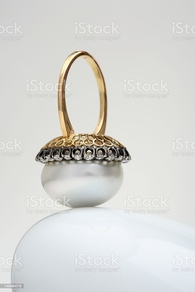 Pearl ring royalty-free stock photo