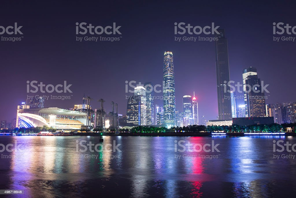 Pearl River New City Night stock photo