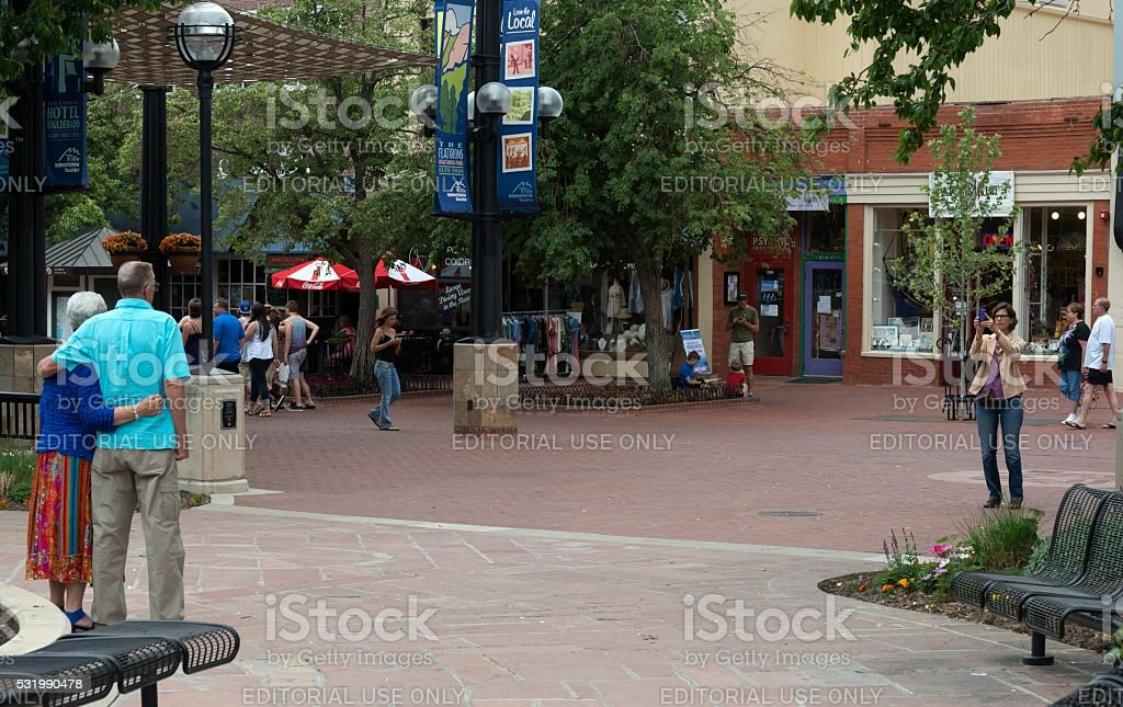 Pearl Street Mall in Boulder Colorado stock photo