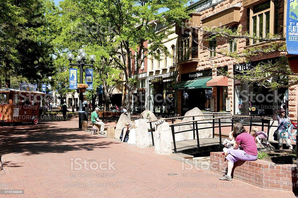 Pearl Street Mall stock photo