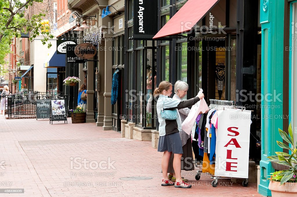 Pearl Street Mall Shopping stock photo
