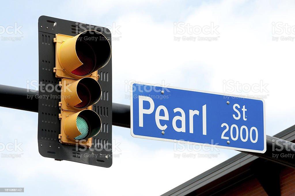 Pearl Street stock photo