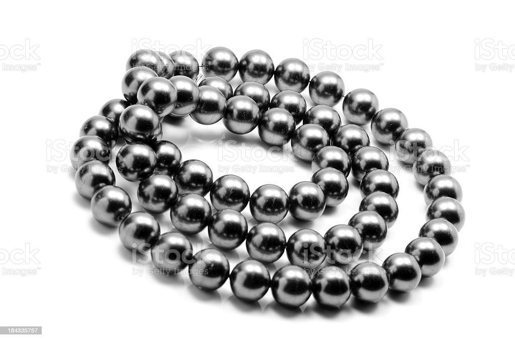 Pearls Black royalty-free stock photo