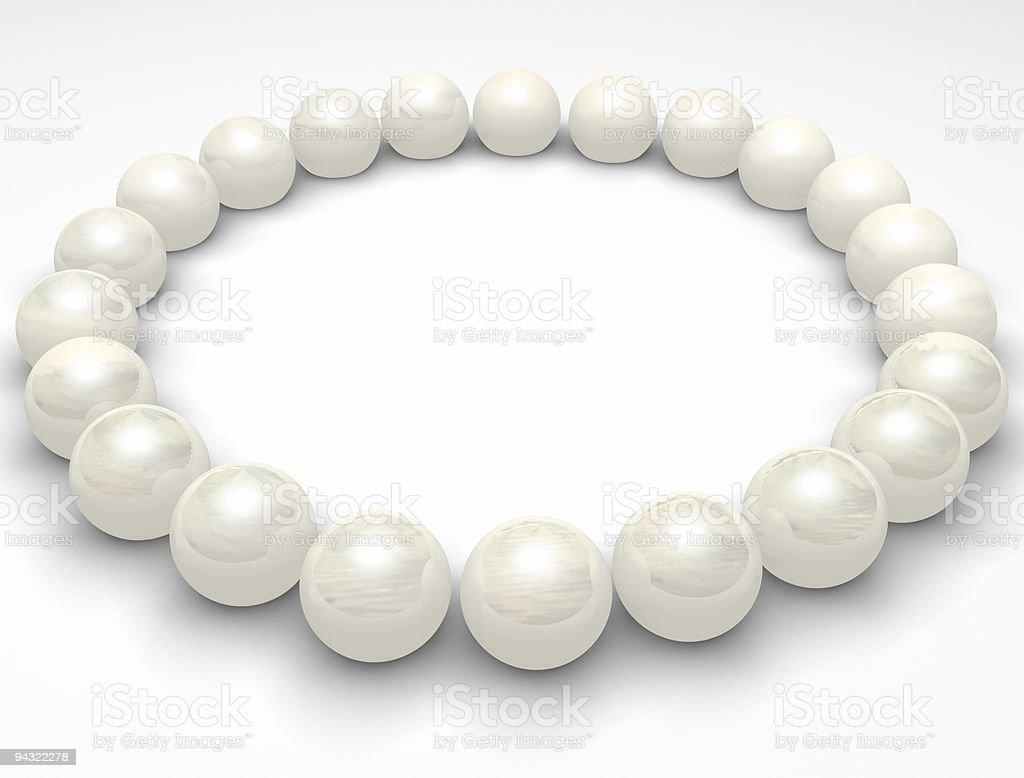 pearls circle royalty-free stock photo