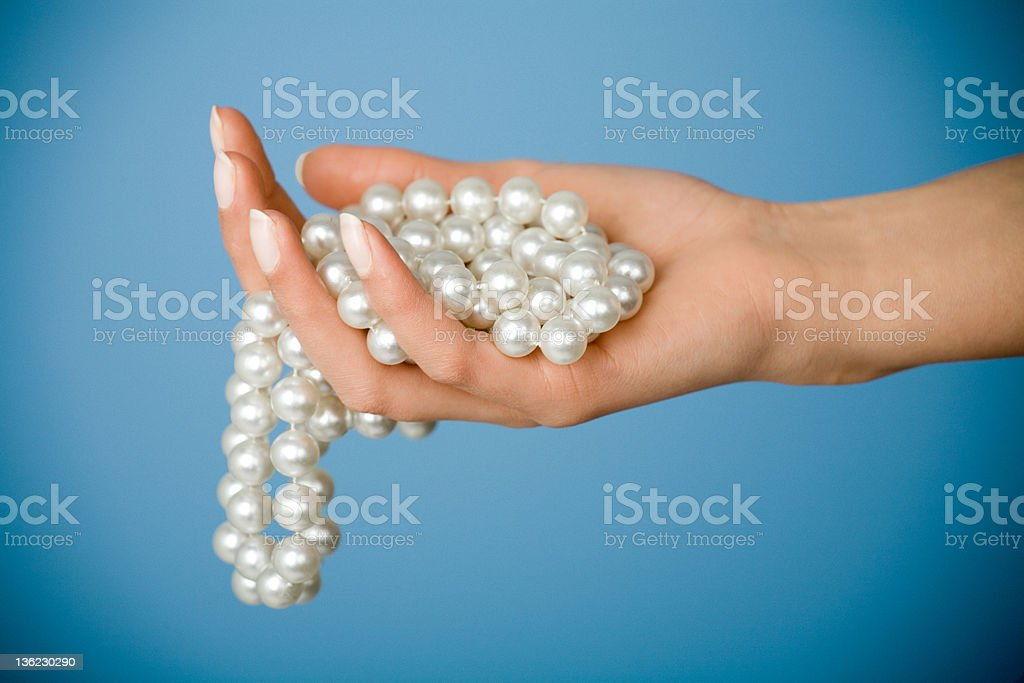 Pearls royalty-free stock photo