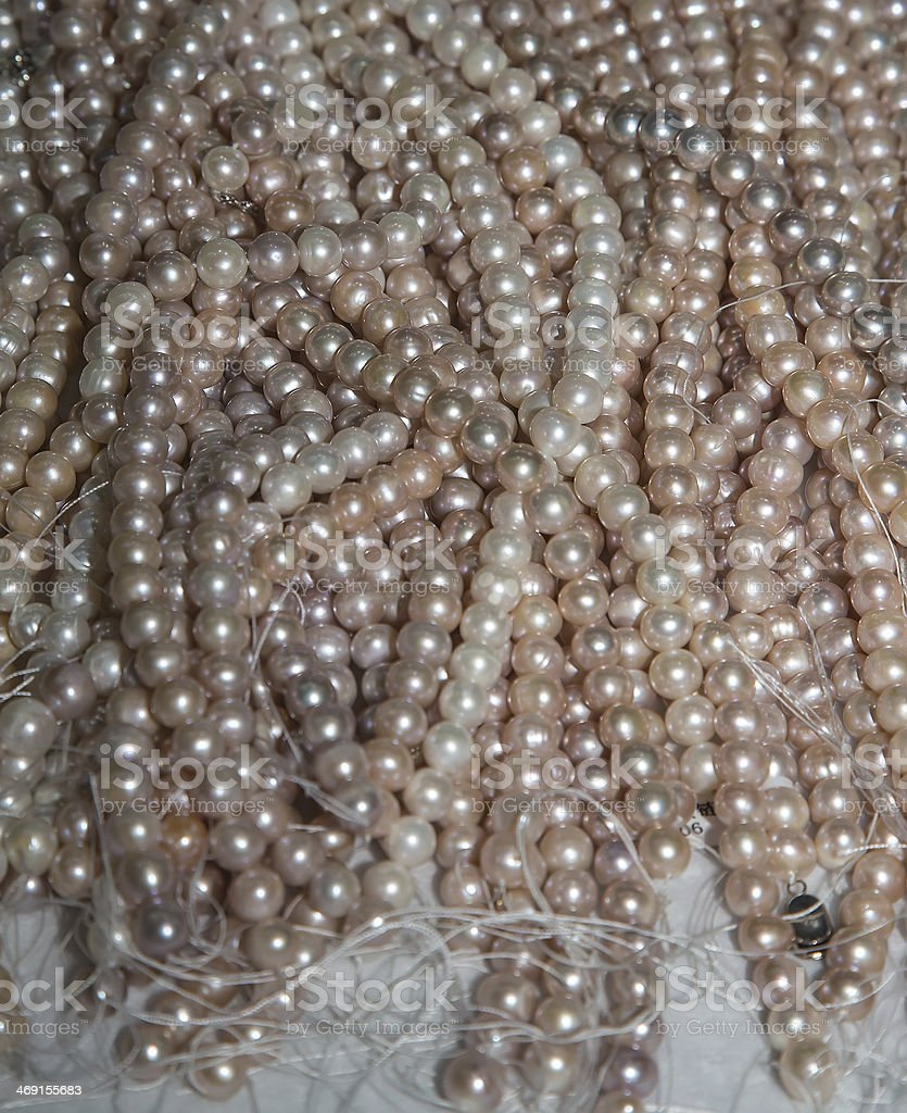 Pearls (can be used as a background) stock photo