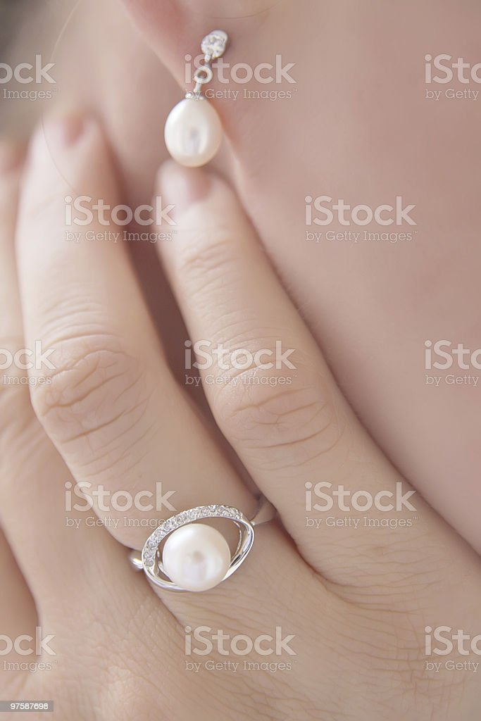 Pearls stock photo