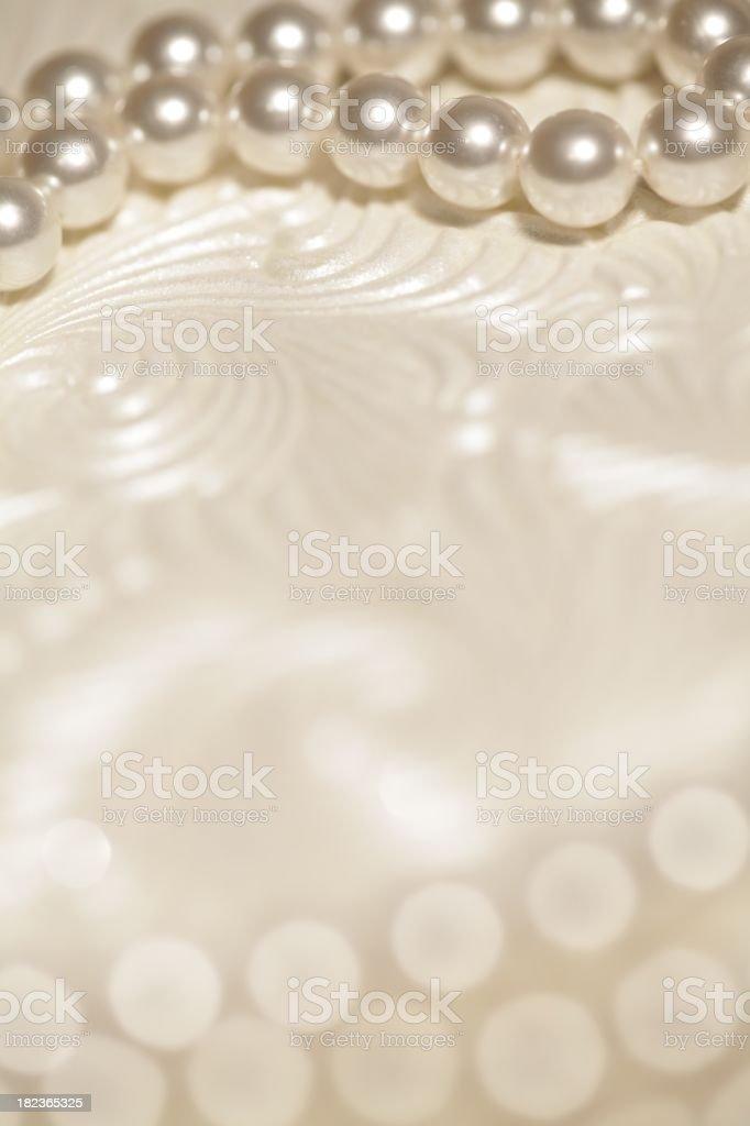 Pearls Wedding Background royalty-free stock photo