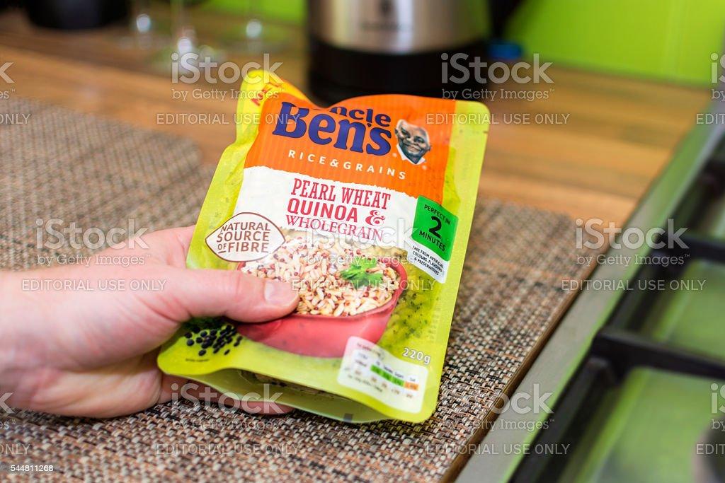 Pearlwheat & Quinoa Packet stock photo