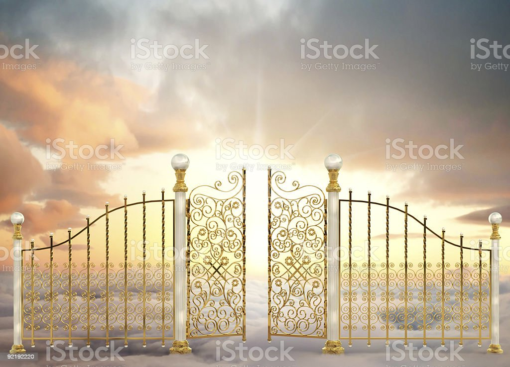 Pearly Gates Landscape royalty-free stock photo
