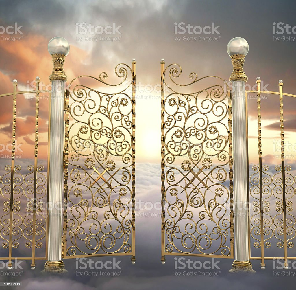 Pearly Gates stock photo