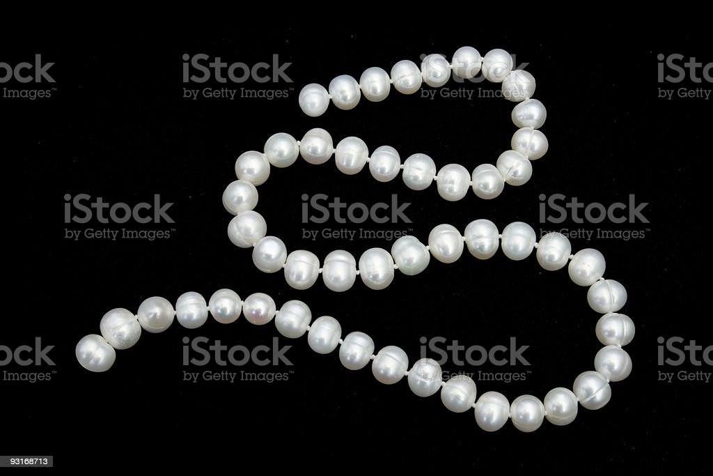 Pearly necklace royalty-free stock photo