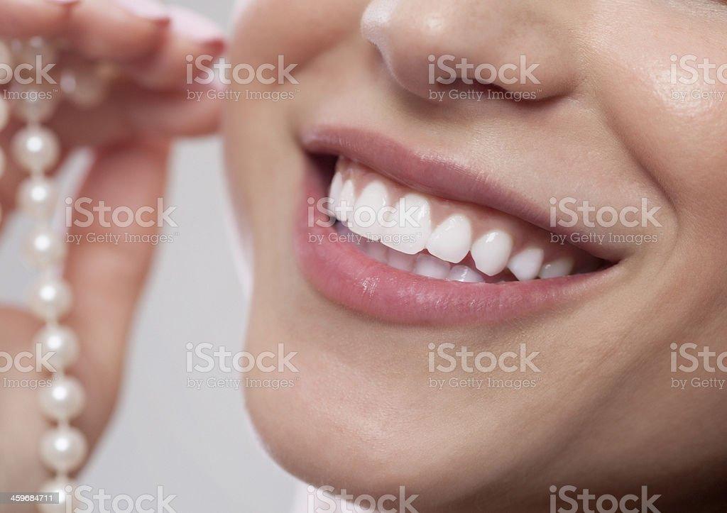 Pearly White Smile stock photo