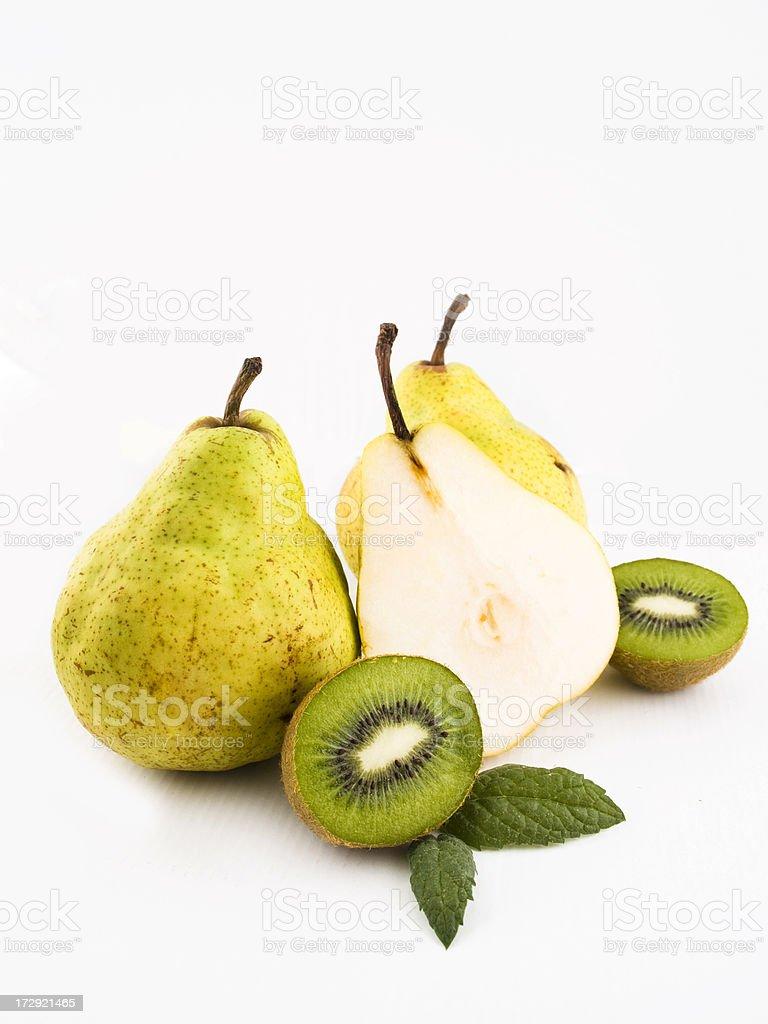pears and kiwi royalty-free stock photo